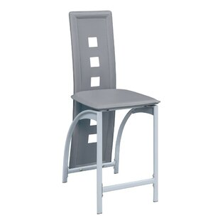 Chenard Eyelet Design Metal Frame 24 Bar Stool (Set of 2) by Ebern Designs