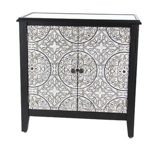 Gosser Traditional Wood 2 Door Accent Cabinet by Bungalow Rose