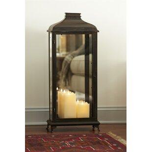 Mirror Metal/Glass Lantern by Melrose International