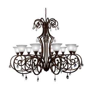 Astoria Grand Barr 10-Light Shaded Chandelier