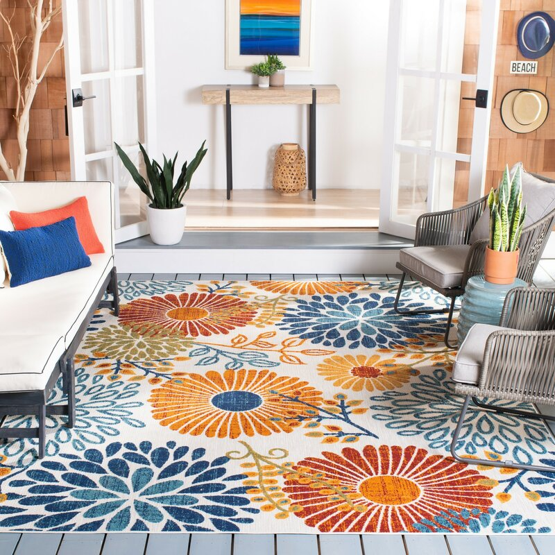 Ebern Designs Kellems Red Orange Indoor Outdoor Area Rug Reviews Wayfair