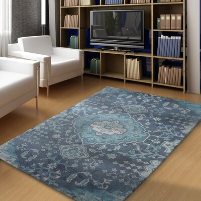 Fresno Overdyed Blue Area Rug