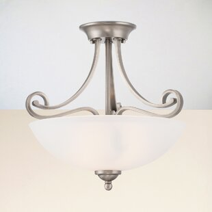 Elinor 2-Light Semi Flush Mount by Fleur De Lis Living