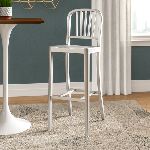 Swell Aluminum Brushed Bar Stools Wayfair Ocoug Best Dining Table And Chair Ideas Images Ocougorg