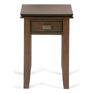 Narrow End Table With Storage