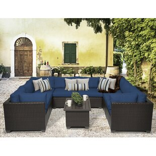 TK Classics Belle 9 Piece Sectional Set with Cushions