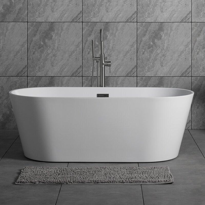 "WoodBridge 59"" X 29.5"" Freestanding Soaking Bathtub"
