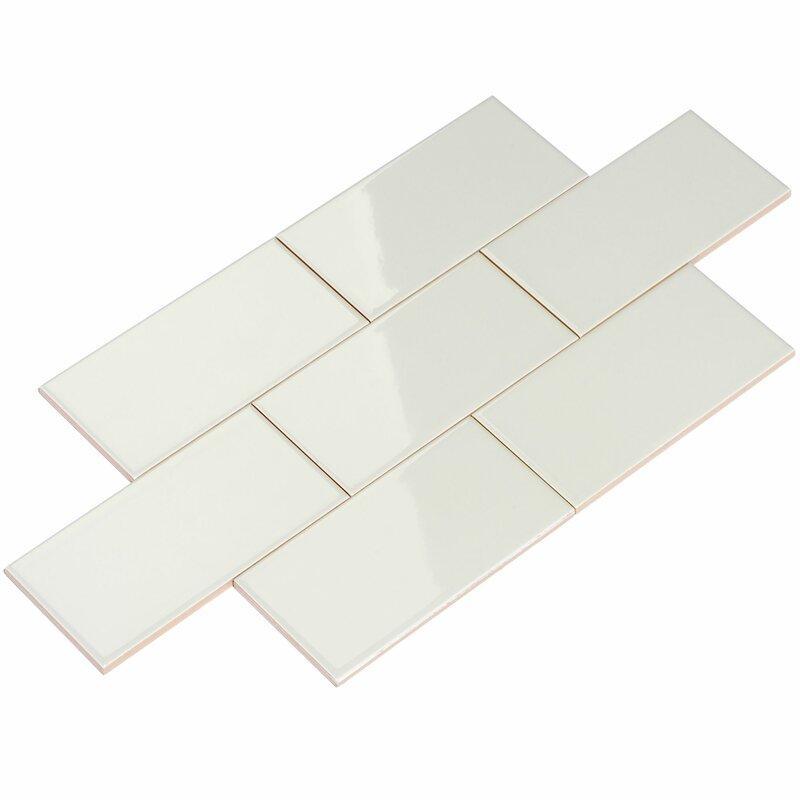 Giorbello 3 X 6 Ceramic Subway Tile In Light Gray Reviews Wayfair