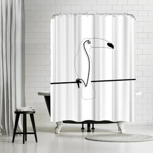 East Urban Home Explicit Design Toco Toucan Shower Curtain