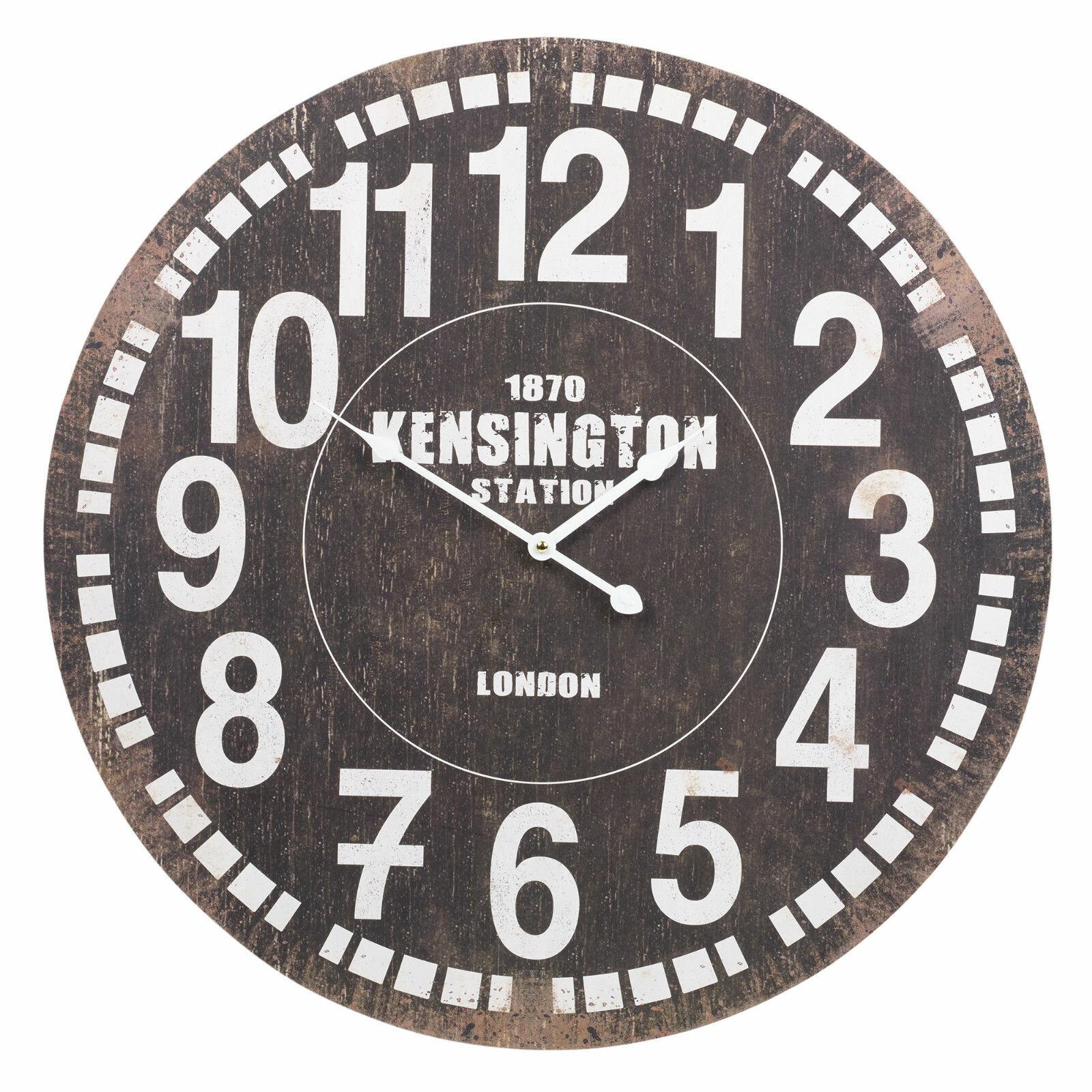 Borough Wharf 1870 Kensington Station Shabby Elegance 60cm Wall Clock Wayfair Co Uk
