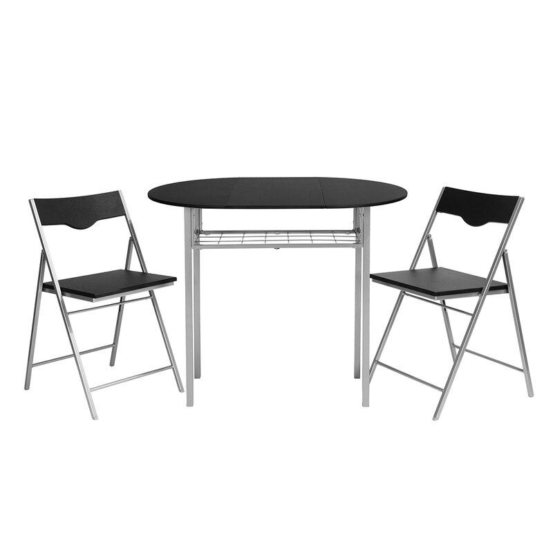 Brayden Studio Findlay Folding Dining Set With 2 Chairs Wayfair Co Uk