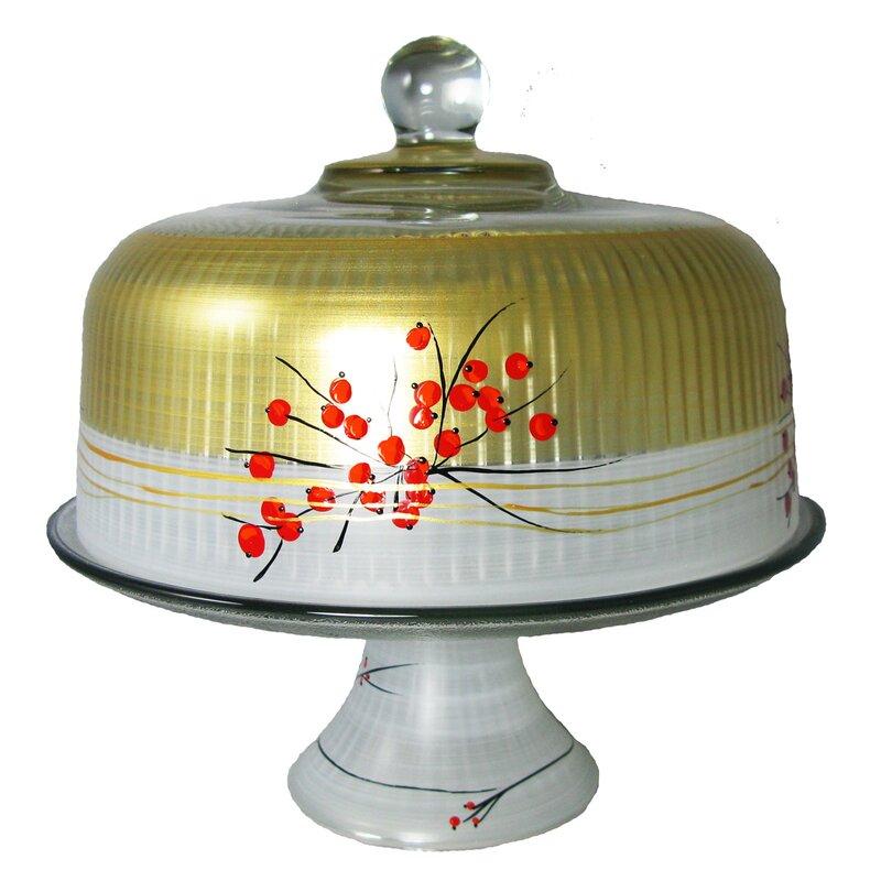 Golden Hill Studio Berries N Branches Cake Stand Wayfair