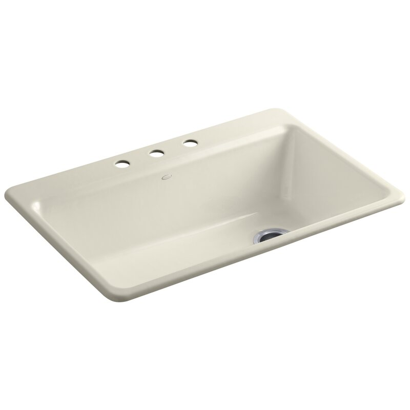 Kohler Riverby 33 X 22 X 9 5 8 Top Mount Single Bowl Kitchen Sink With Accessories Reviews Wayfair