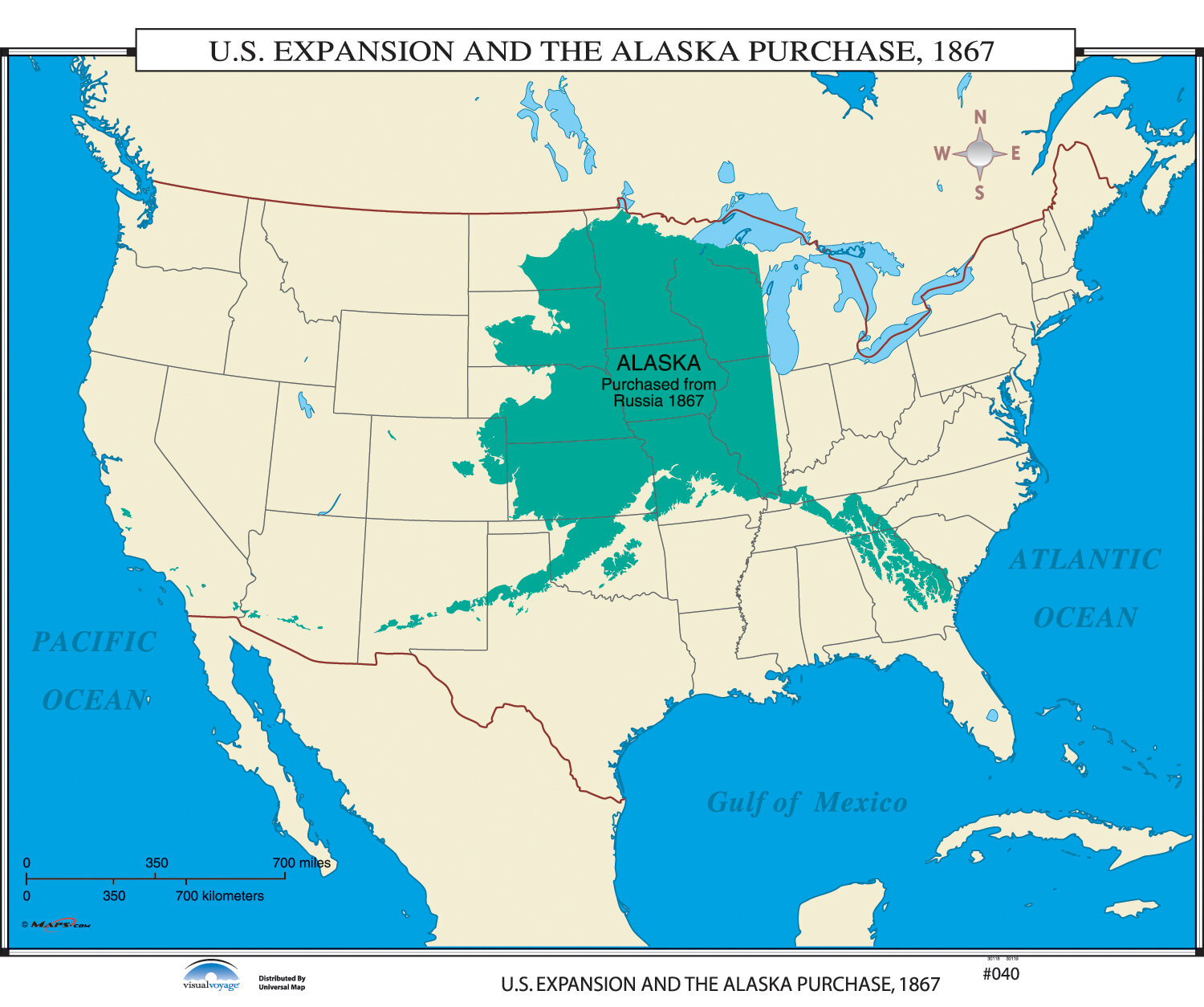 Alaska On The Us Map Universal Map U.S. History Wall Maps   U.S. Expansion & Alaska
