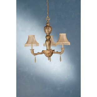 Monticello 3-Light Shaded Chandelier by Meyda Tiffany