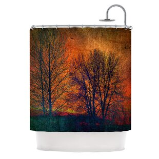 Silhouettes Polyester Single Shower Curtain