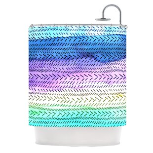 Aqua Single Shower Curtain By East Urban Home