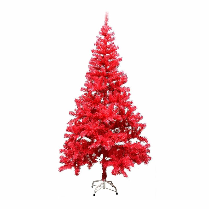 The Holiday Aisle 5' Pink Pine Artificial Christmas Tree With