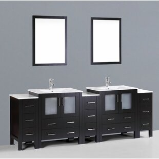 Netto 96 Double Bathroom Vanity Set with Mirror by Ebern Designs