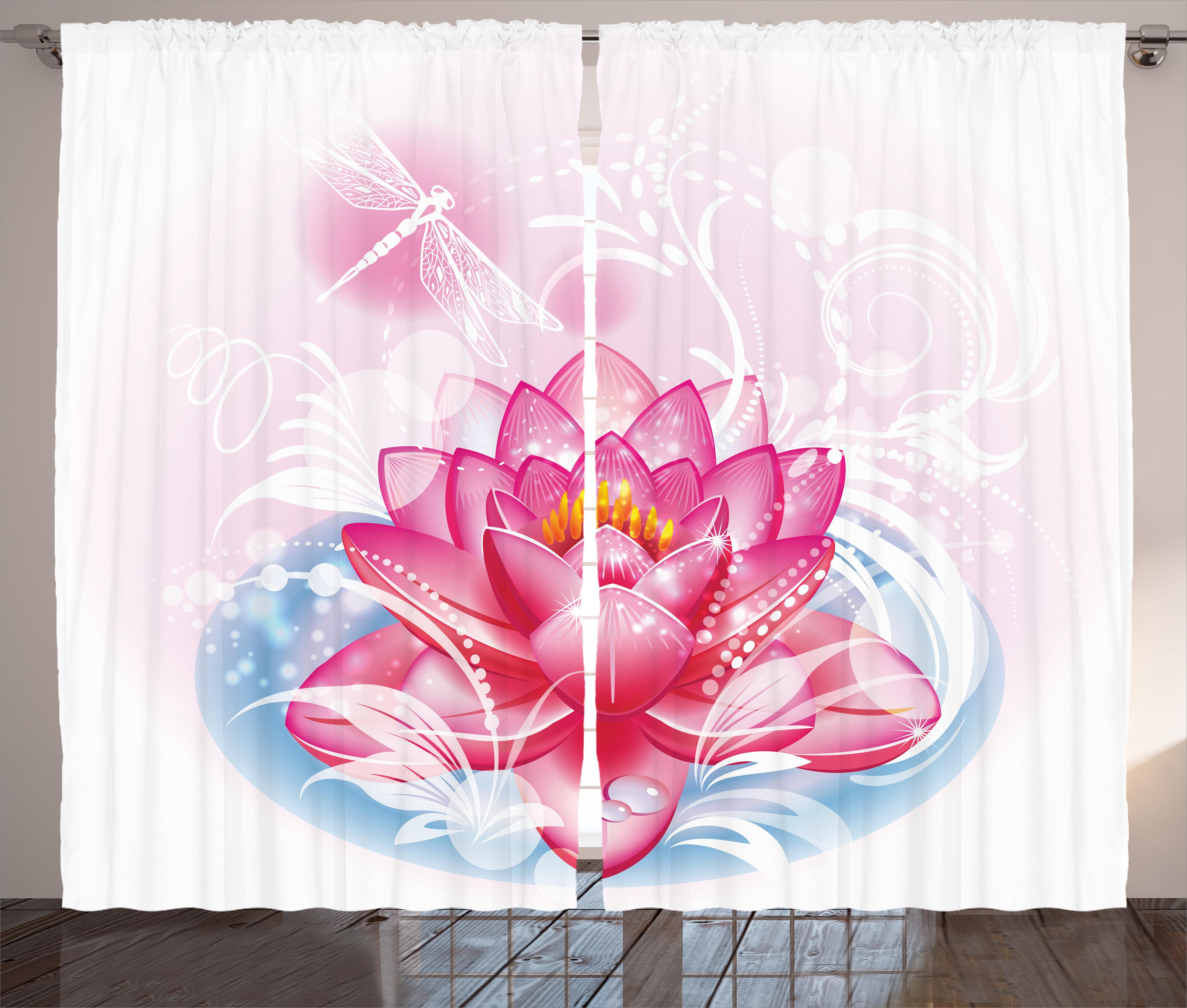 Bungalow Rose Odyssey Flower Graphic Print And Text Semi Sheer Rod Pocket Curtain Panels Wayfair