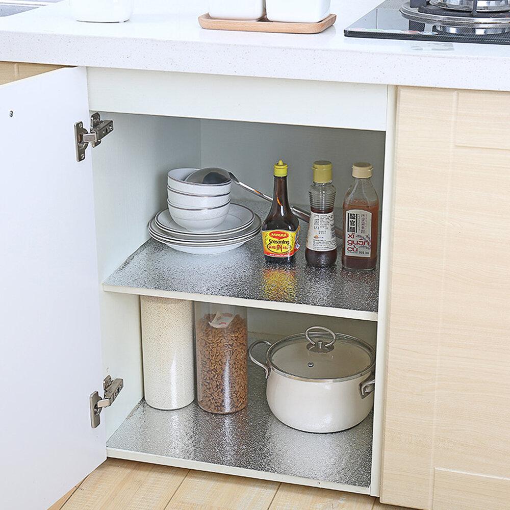 Mercer41 Waterproof Oil Proof Aluminum Foil Kitchen Cabinet Wall Decal Wayfair