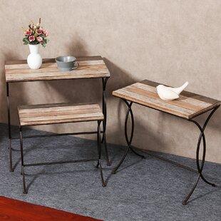 August Grove Shira 3 Piece Nesting Tables