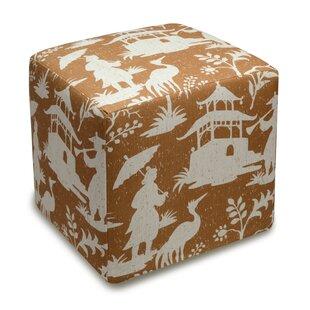 Chinoiserie Cube Ottoman