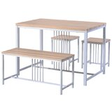 Mtmere 4 - Piece Dining Set by 17 Stories