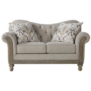 Larrick Fabric Tufted Standard Loveseat