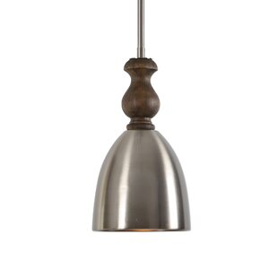 Top Reviews Whitby 1 -Light LED Bell Pendant By Gracie Oaks