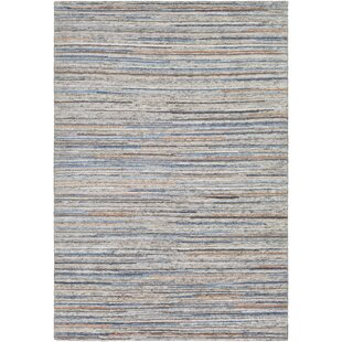 Comparison Bolger Hand-Knotted Ivory/Black Area Rug By Red Barrel Studio