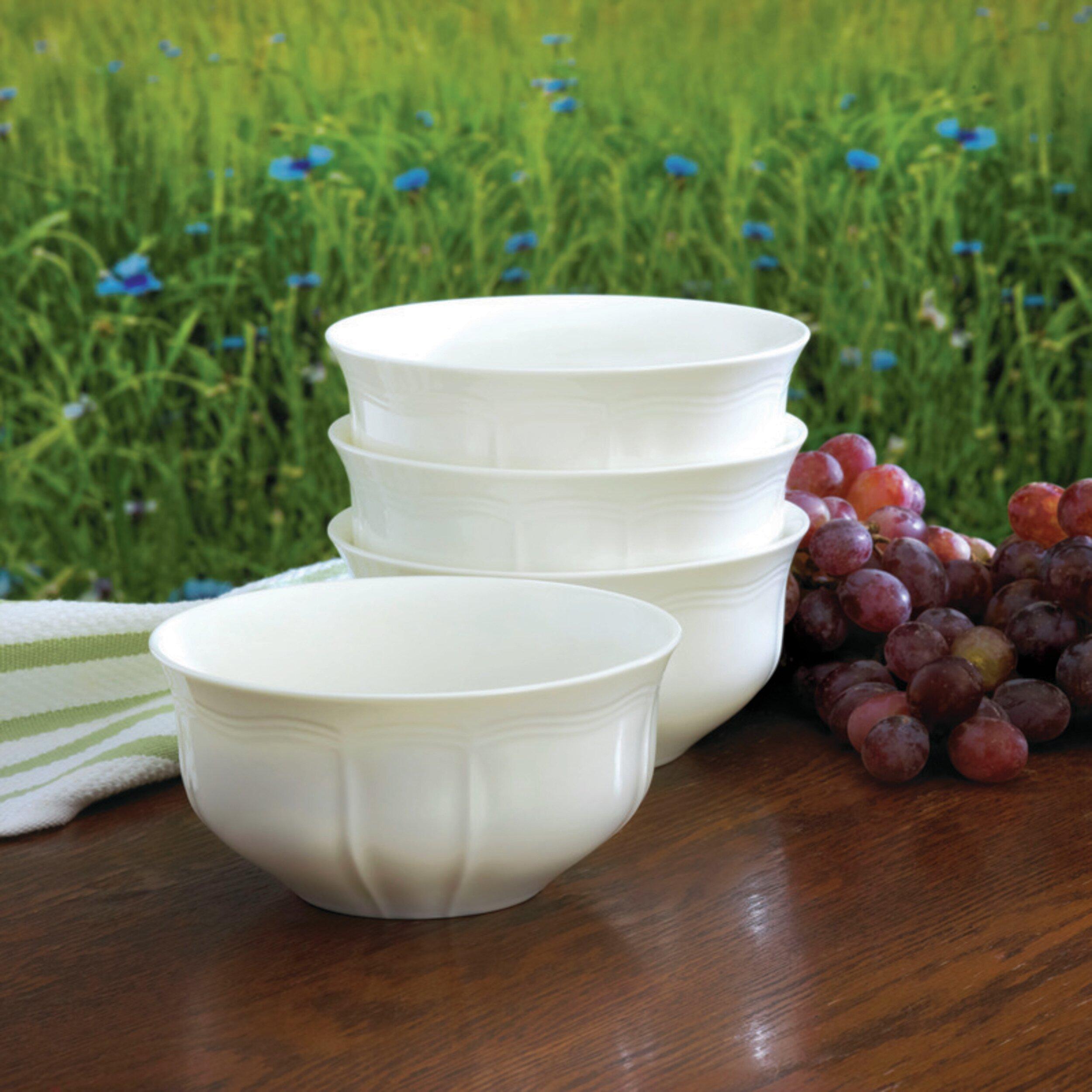 Mikasa Antique White Cereal Bowl Set Of 4 Reviews Wayfair