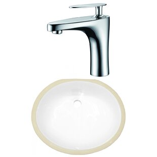 Reviews CSA Ceramic Oval Undermount Bathroom Sink with Faucet and Overflow ByRoyal Purple Bath Kitchen