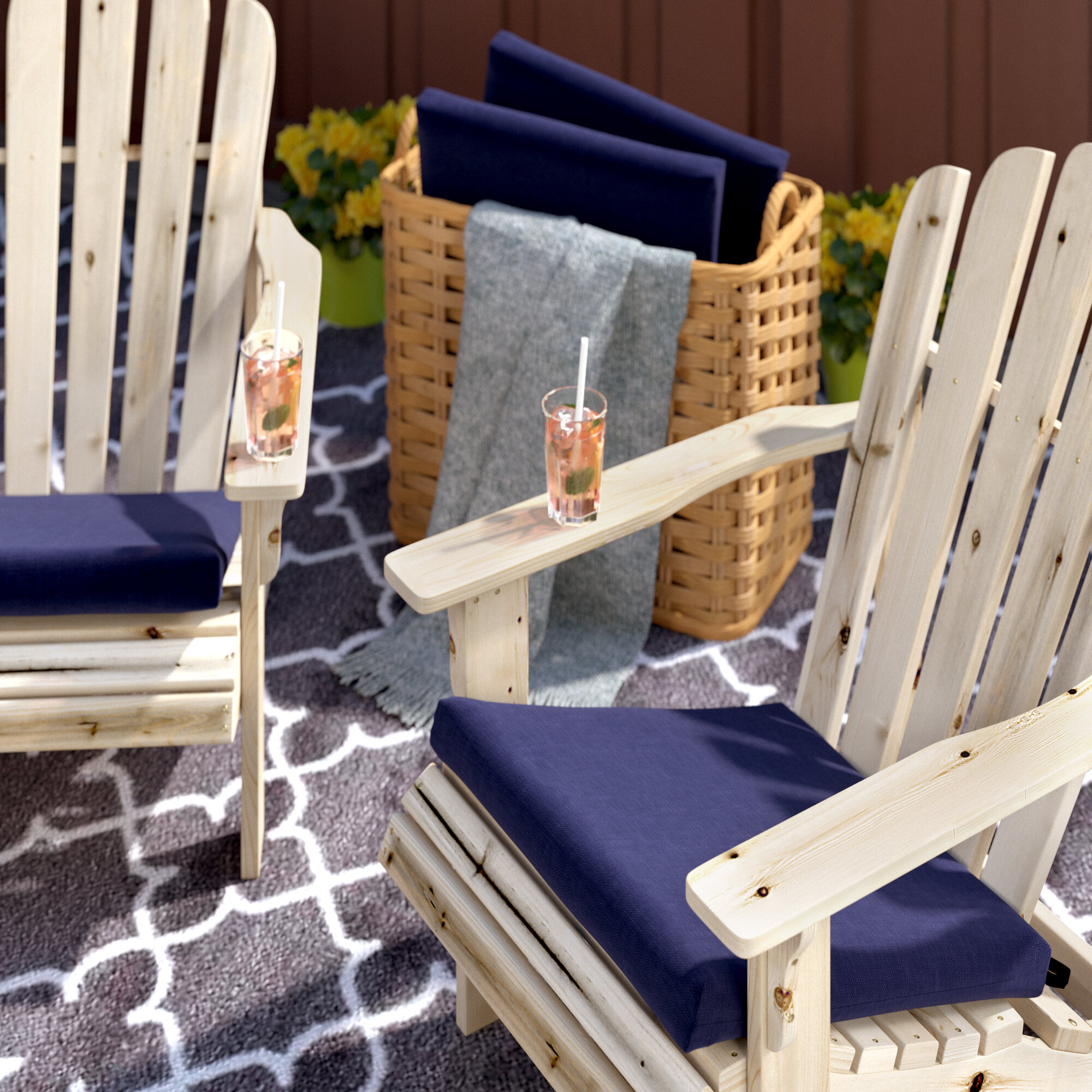 Coussin Pour Fauteuil Adirondack indoor/outdoor adirondack chair cushion