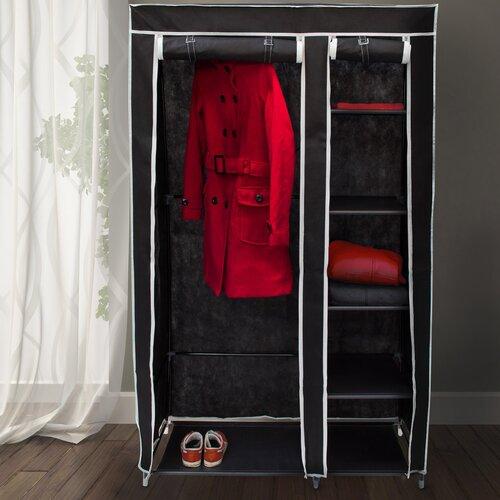 107 cm mobiler Kleiderschrank Berns | Schlafzimmer > Kleiderschränke | Rebrilliant