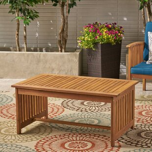 Carlie Outdoor Wooden Coffee Table by Charlton Home Today Only Sale