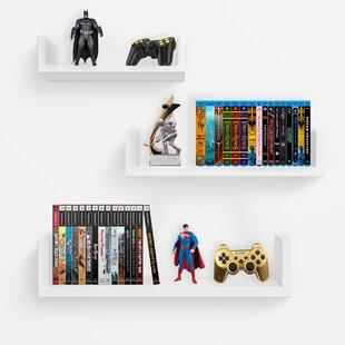 Best Reviews 3 Piece Floating Shelf Set BySorbus