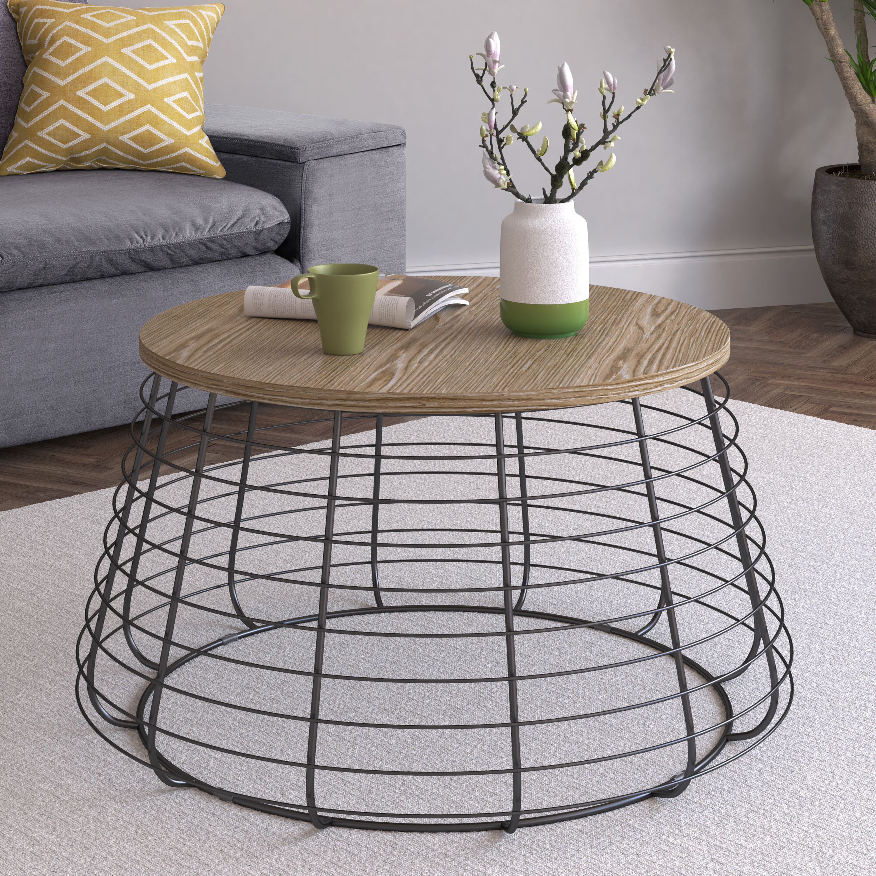 Picture of: Gracie Oaks Tolchester Coffee Table With Tray Top Reviews Wayfair