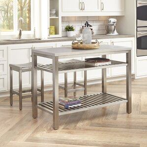 Sione 3 Piece Kitchen Island Set by Everl..
