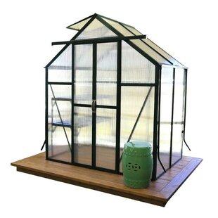 Grandio Greenhouses Element Heavy-Duty Aluminum 6 Ft. W x 4 Ft. D Greenhouse with Base