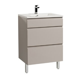 Gammon 600mm Free-standing Single Vanity Unit By Ebern Designs
