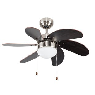 Ceiling fans with lights wayfair 76cm typhoon 6 blade ceiling fan aloadofball Choice Image