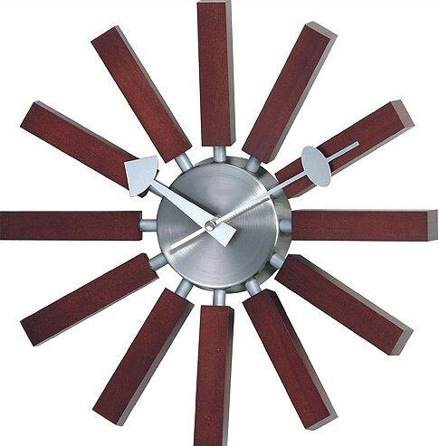 Latitude Run Simmerman Telechron Modern Wall Clock in Walnut & Reviews |  Wayfair