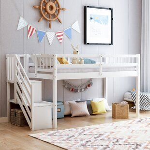 Leiser Twin Loft Bed with Shelf