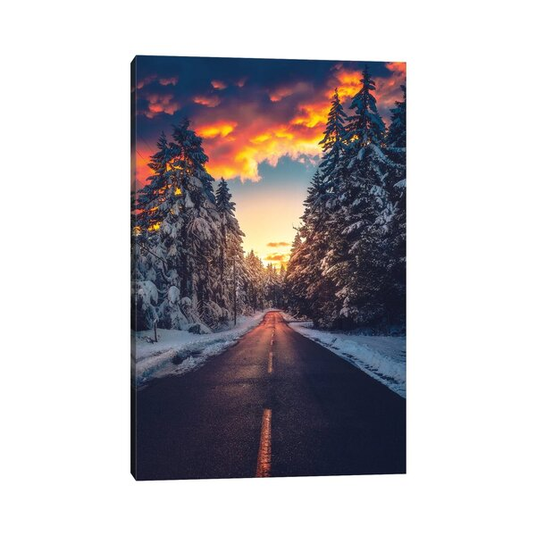 East Urban Home Fire And Ice By Zach Doehler Wrapped Canvas Photograph Print Wayfair