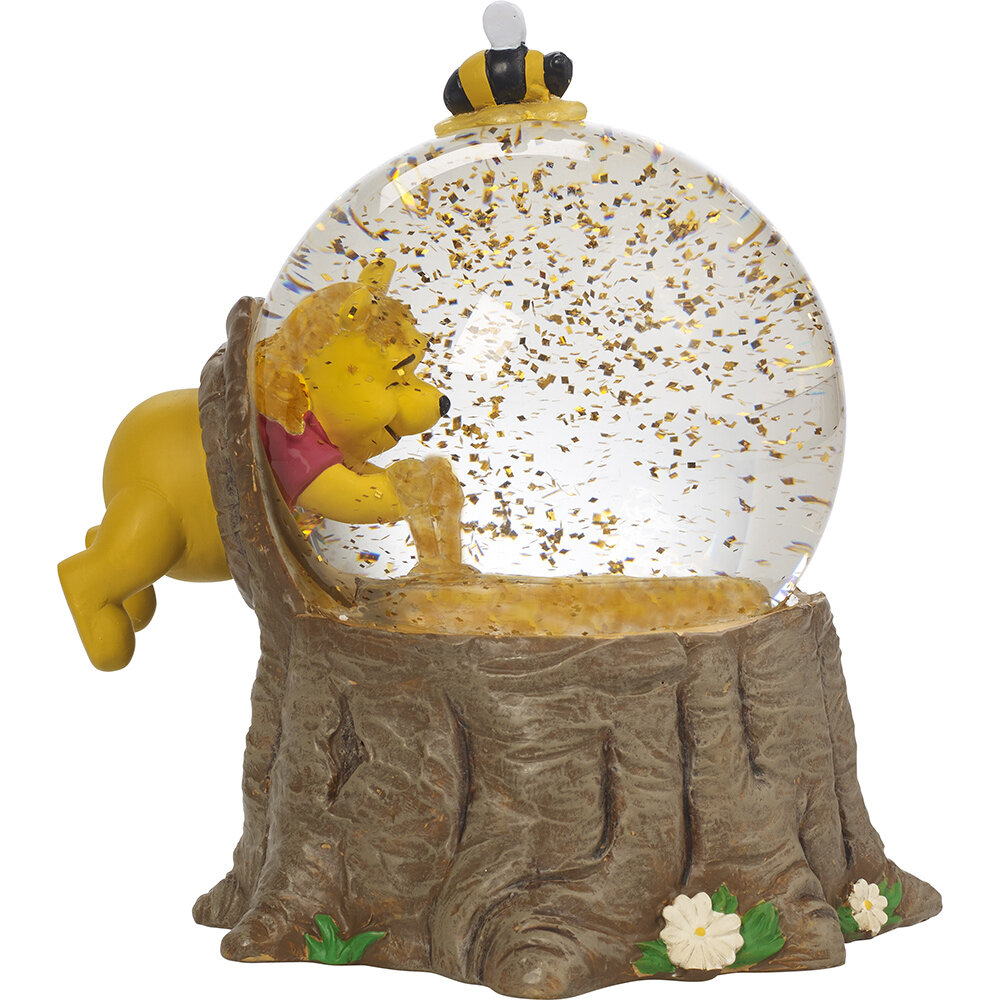 Disney Showcase Winnie The Pooh Musical Snow Globe For Love Of Hunny Resin And Glass Figurine