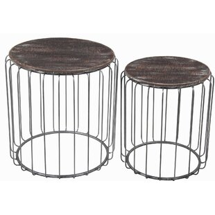 Union Rustic Oliveros 2 Piece Nesting Tables