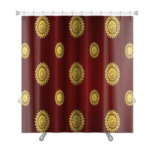 Bravo Traditional Thai Line Art Premium Single Shower Curtain