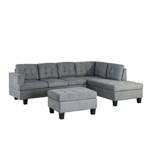 Versailles Right Hand Facing Sectional with Ottoman