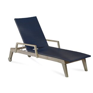 Longshore Tides Angelica Reclining Teak Chaise Lounge